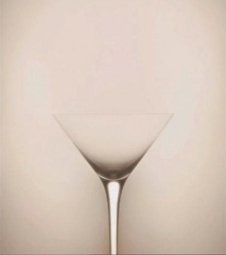 schmutzige Gedanken beim Bild einer Champagnerschale